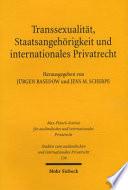Transsexualität, Staatsangehörigkeit und internationales Privatrecht
