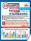 10 Sample Question Papers For Cbse Class 10 Mathematics With Marking Scheme Revision Notes