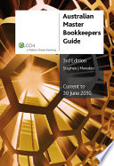 Australian Master Bookkeepers Guide 2009 10