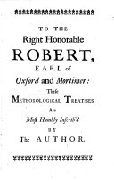 Meteorological Essays, Concerning the Origin of Springs, Generation of Rain, and Production of Wind