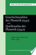 Geschichtszahlen der Phonetik   1941   together with  Quellenatlas der Phonetik   1940
