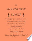 The Beethoven Duets For Saxophone Volume 1 Scherzi 1  2 and 3