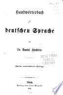 Handwörterbuch der deutschen sprache