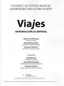 Introduccion Al Espanol Student Activities Manual Video   Answer Key   Audio Script
