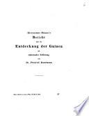 Hieronymus Münzer's Bericht über die Entdeckung der Guinea