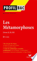 Profil   Ovide   Les M  tamorphoses