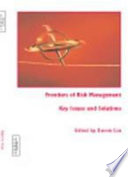 Frontiers Of Risk Management book
