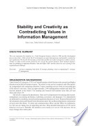 Stability and Creativity as Contradicting Values in Information Management