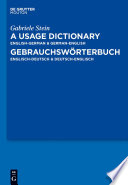 A Usage Dictionary English German   German English   Gebrauchsw  rterbuch Englisch Deutsch   Deutsch Englisch