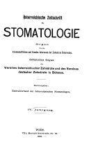 Österreichische Zeitschrift für Stomatologie