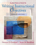 Gronlund s Writing Instructional Objectives