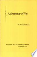 A Grammar of Vai