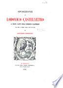 Sposizione di Lodovico Castelvetro a XXIX canti dell'Inferno dantesco