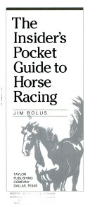 The insider's pocket guide to horse racing Other Factors Handicapping Horses Jockeys Trainers And