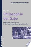 Philosophie der Gabe