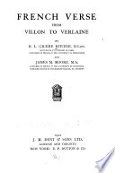 French Verse from Villon to Verlaine