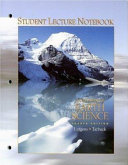 Foundations of Earth Science Student Lecture Notebook