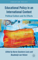 Educational Policy in an International Context Culture And Educational Policy The Goal
