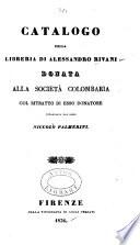 Catalogo della libreria di A. Rivani