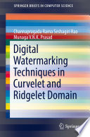 Digital Watermarking Techniques In Curvelet And Ridgelet Domain : novel digital watermarking technique for color images using...