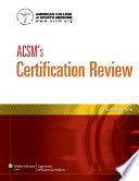 ACSM s Certification Review