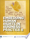 Embedding Human Rights In Business Practive Ii