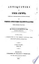 Antiquities of the Jews ... compiled from authentic sources