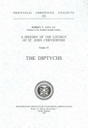 A History Of The Liturgy Of St John Chrysostom The Diptychs