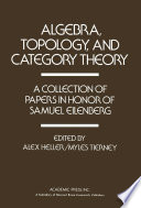 Algebra  Topology  and Category Theory