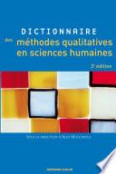 Dictionnaire des m  thodes qualitatives en sciences humaines