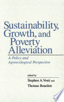 Sustainability  growth  and poverty alleviation