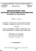 Bibliographie der deutschen Zeitschriftenliteratur