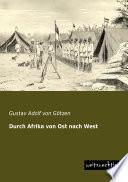 Durch Afrika von Ost nach West  1866 1910 Legt In Dem