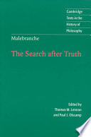 Malebranche: The Search After Truth Of Crucial Importance To The
