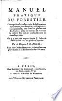 Manuel Pratique Du Forestier