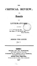 The Critical Review: Or, Annals of Literature