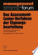 Das Assessment-Center-Verfahren der Eignungsbeurteilung