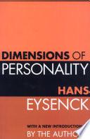 Ebook Dimensions of Personality Epub Hans J. Eysenck Apps Read Mobile