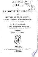 Julie ou La nouvelle Heloise ou Lettres de deux amants
