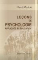 illustration du livre Leçons de Psychologie Appliquée à L'éducation