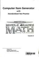 Prentice Hall Middle Grades Math: Course 2
