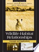 Wildlife Habitat Relationships