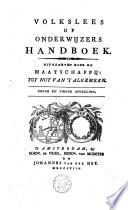 Volkslees, of onderwijzers handboek