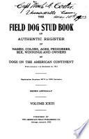 The Field Dog Stud Book Book PDF