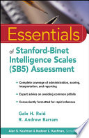 Essentials of Stanford Binet Intelligence Scales  SB5  Assessment