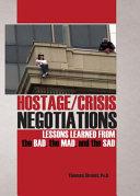 Hostage/crisis Negotiations