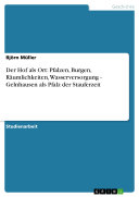 Der Hof als Ort: Pfalzen, Burgen, Räumlichkeiten, Wasserversorgung - Gelnhausen als Pfalz der Stauferzeit