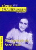 Erl  uterungen zu Anne Frank  Das Tagebuch der Anne Frank