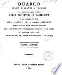 Quadro delle distanze milliarie tra ciascuna delle comuni della provincia di Basilicata e da ciascuna di esse alla capitale della Sicilia citeriore