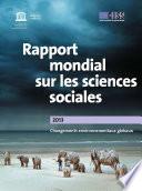 Rapport mondial sur les sciences sociales, 2013